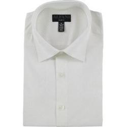 Alfani Mens Tonal Diamond Button Up Dress Shirt (17