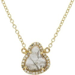 Diamond Slice Necklace Trillion - Metallic - KAMARIA Necklaces found on Bargain Bro from lyst.com for USD $532.00