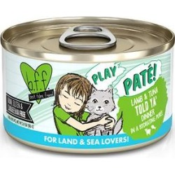 BFF Play Pate Lovers Lamb & Tuna Told Ya Wet Cat Food, 2.8-oz can, pack of 12 found on Bargain Bro Philippines from Chewy.com for $14.49