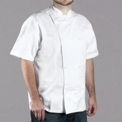 Chef Revival Silver Knife and Steel J005 Unisex White Customizable Short Sleeve Chef Jacket - 4X found on Bargain Bro India from webstaurantstore.com for $33.99