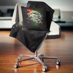 Designart 'Fantasy Parrot on Branch' Animal Throw Blanket found on Bargain Bro from Overstock for USD $51.35