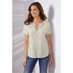 Women Quinn T-Shirt by Soft Surroundings, in White size 1X (18-20)