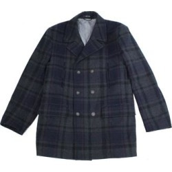 Lauren by Ralph Lauren Mens Peacoat Blue Size 40R Plaid Double Breasted found on Bargain Bro from Overstock for USD $118.54