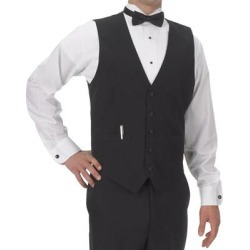Henry Segal Men's Customizable Black Basic Server Vest - XL found on Bargain Bro India from webstaurantstore.com for $14.99
