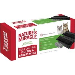 Nature's Miracle Pet Odor Control Filters & Receptacles, 4 Count, 3.83 LBS