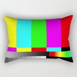 Rectangular Pillow | Smpte Television Tv Color Bars by Restored Art And History - Small (17