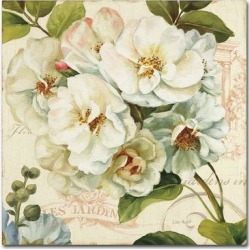 Trademark Fine Art Les Jardin III Canvas Wall Art, White, 35X35 found on Bargain Bro Philippines from Kohl's for $176.99