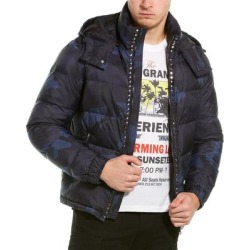 Valentino Camo Coat (46), Men's, Blue(polyamide) found on Bargain Bro Philippines from Overstock for $989.99