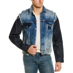 R13 Sky Trucker Jacket (S), Men's, Blue(cotton) found on Bargain Bro India from Overstock for $373.99