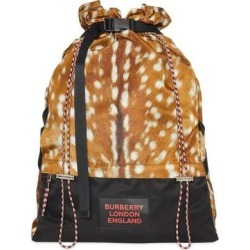 Animal Print Drawstring Backpack - Brown - Burberry Backpacks found on Bargain Bro from lyst.com for USD $560.12