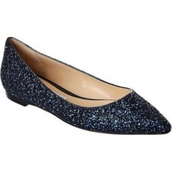 Jimmy Choo Romy Glitter Flat (37), Women's, Blue(leather) found on MODAPINS from Overstock for USD $516.99