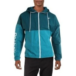 Reebok Mens Training Essentials Track Jacket Windbreaker Fitness - Heritage Teal (2XL), Men's, Heritage Blue(polyester) found on Bargain Bro Philippines from Overstock for $29.99