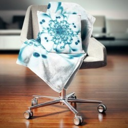 Designart 'Typical Blue Snowy Fractal Flower' Floral Throw Blanket found on Bargain Bro from Overstock for USD $40.69