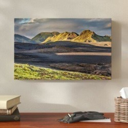 Millwood Pines 'Iceland Landscape 15' Photographic Print on Wrapped Canvas Canvas & Fabric in White, Size 30.0 H x 47.0 W x 2.0 D in   Wayfair found on Bargain Bro Philippines from Wayfair for $116.99
