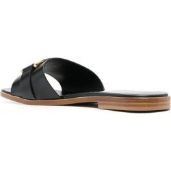 Leather Flat Sandals - Black - Tod's Flats found on Bargain Bro Philippines from lyst.com for $549.00