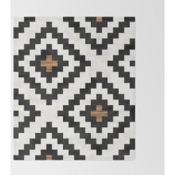 Urban Tribal Pattern No.16 - Aztec - Concrete And Wood Bed Throw Blanket by Zoltan Ratko - 51