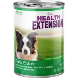 Health Extension Grain-Free Duck Entree Canned Dog Food, 12.5-oz, case of 12
