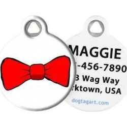 Dog Tag Art Bow Tie Personalized Dog & Cat ID Tag, Small