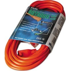 Vinyl Outdoor Extension Cord, 25ft, 13 Amp, Orange (Orange) found on Bargain Bro Philippines from Overstock for $19.86
