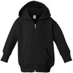 Rabbit Skins Infant Zip Fleece Hoodie - Black - 6M (Black), Men's