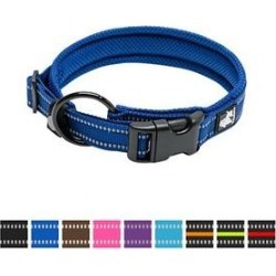 Chai's Choice Comfort Cushion 3M Polyester Reflective Dog Collar, Royal Blue, Medium: 15.7 to 17.7-in neck, 4/5-in wide found on Bargain Bro India from Chewy.com for $11.99
