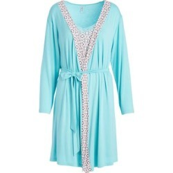 Lamaze Maternity Intimates Women's Sleep Robes BRIGHT - Turquoise Geometric Maternity Robe & Chemise found on Bargain Bro India from zulily.com for $21.99