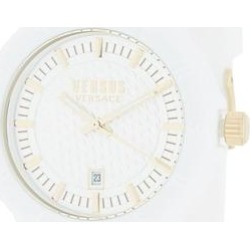 Men's White Dial Silicone Strap Watch - White - Versus Watches found on Bargain Bro India from lyst.com for $60.00