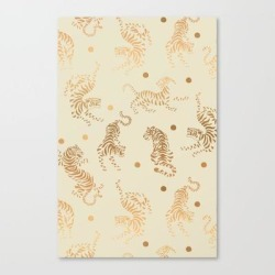 Canvas Print   Golden Tigers Iii by Mmartabc - LARGE - Society6 found on Bargain Bro India from Society6 for $116.89