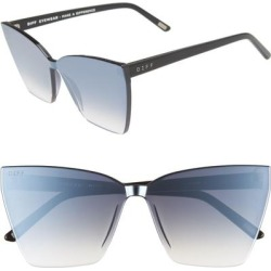 Goldie 65mm OverBlack/ Silver Smoke - Metallic - DIFF Sunglasses found on MODAPINS from lyst.com for USD $85.00