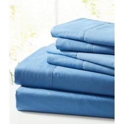 Spirit Linen Home Sheet Sets Cornett - Cornett Blue Solid Six-Piece Sheet Set found on Bargain Bro Philippines from zulily.com for $19.99