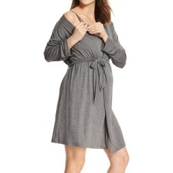 Lamaze Maternity Intimates Women's Sleep Bottoms Charcoal - Charcoal Heather Maternity/Nursing Robe & Chemise found on Bargain Bro India from zulily.com for $21.99