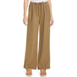 Tie Waist Pants - Brown - Vince Pants found on Bargain Bro from lyst.com for USD $186.20