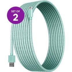 Posh Tech Lightning Cables Teal - 10' Teal Braided Lightning Cable - Set of Two found on Bargain Bro from zulily.com for USD $16.71
