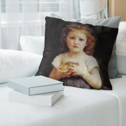 Porch & Den William-Adolphe Bouguereau 'Little Girl with Apples' Throw Pillow found on Bargain Bro from Overstock for USD $47.26