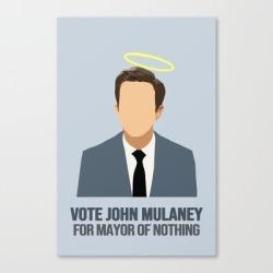 John Mulaney: Mayor Of Nothing Canvas Print by Emmatounjikian - LARGE found on Bargain Bro India from Society6 for $139.99