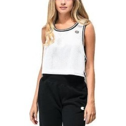 Champion Women's Reversible Mesh Cropped Tank Top White Size Extra Small - X-Small (White - X-Small)(Polyester) found on Bargain Bro Philippines from Overstock for $10.40