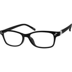 Zenni Women's Rectangle Prescription Glasses Black Plastic Frame found on Bargain Bro India from Zenni Optical for $25.95