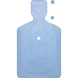 10 Pcs of Contra Costa Co. Pd Training Cardboard Target Has Slots Cut On Bottom & Hole At Top Blue 18