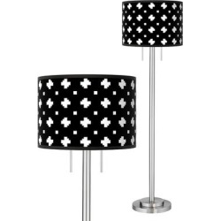 Crossroads Giclee Brushed Nickel Garth Floor Lamp found on Bargain Bro India from LAMPS PLUS for $219.99