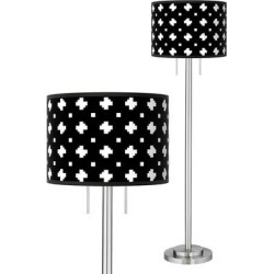 Crossroads Giclee Brushed Nickel Garth Floor Lamp found on Bargain Bro Philippines from LAMPS PLUS for $219.99
