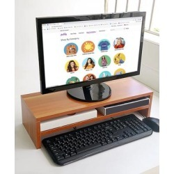 eDooFun Desk Organizers Rosewood - Rosewood Brown Double-Decker Monitor Stand found on Bargain Bro India from zulily.com for $19.99