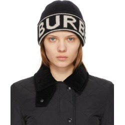 Cashmere Intarsia Logo Beanie - Black - Burberry Hats found on Bargain Bro from lyst.com for USD $182.40