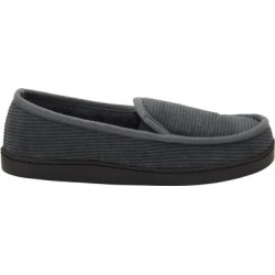 Extra Wide Width Cotton Corduroy Slippers by KingSize in Steel (Size 14 EW) found on Bargain Bro Philippines from Brylane Home for $24.99