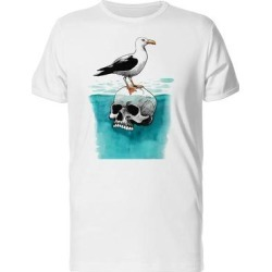 Seagull On Skull Sea Tee Men's -Image by Shutterstock (XXL), White found on Bargain Bro from Overstock for USD $12.15