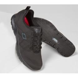 Skechers Women's Work Relaxed Fit: Ghenter - Srelt SR Sneakers, Black, 8.5 found on Bargain Bro from SKECHERS.com for USD $57.00