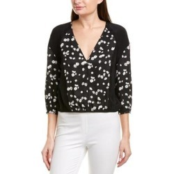 Jason Wu Lace-Trim Silk-Paneled Blouse found on MODAPINS from Overstock for USD $56.24