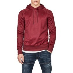 G Star Mens Motac Hoodie Maroon Red Small S Slim Fit Raglan Pullover (S), Men's, G-Star Raw(polyester) found on MODAPINS from Overstock for USD $74.98