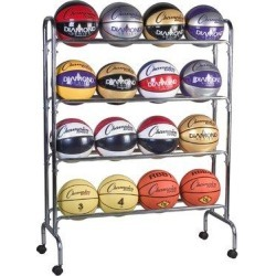 Champion Sports Ball Cart Freestanding Sports RackMetal in Gray, Size 53.0 H x 41.0 W x 17.0 D in   Wayfair CHSBRC4 found on Bargain Bro Philippines from Wayfair for $105.58
