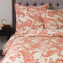 Sierra Orange Linen Duvet Cover (Orange - Twin), Cottage Home found on Bargain Bro India from Overstock for $100.79