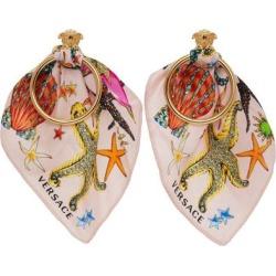 Pink Trésor De La Mer Scarf Earrings - Pink - Versace Earrings found on Bargain Bro from lyst.com for USD $376.20
